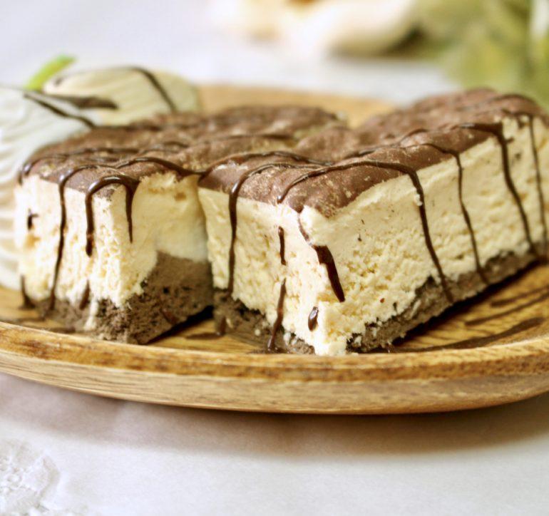 半分にするティラミスケーキ